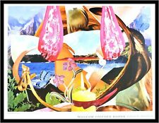Jeff Koons Candle Poster Kunstdruck Bild im Alu Rahmen schwarz 59,4x84,1cm