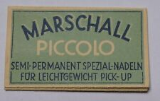 Sachet ancien d'aiguilles Marschall semi-permanentes gramophone  (phonographe)
