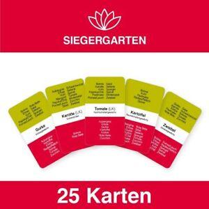 Vegetables Cultivation Siegerkarten Cards Beginners Self Care Bio Garden Gift