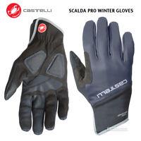 Castelli SCALDA PRO Full Finger Winter Cycling Gloves : DARK STEEL BLUE