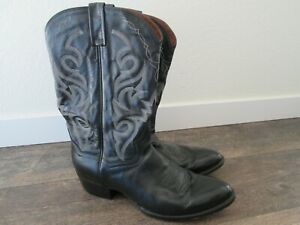 Men's Dan Post Size 12 extra wide - Milwaukee Cowboy Western Boots Black Leather