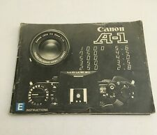 EARLY INSTRUCTIONS MANUAL FOR CANON A-1 CAMERA- FREE SHIPPING