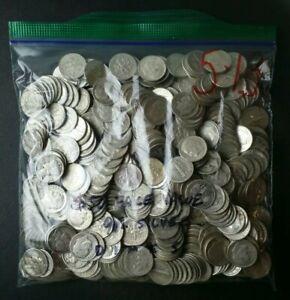 Bag of 500 10c Silver Dimes