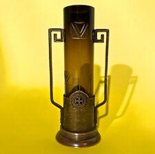 1900 Antique Germany Art Nouveau Jugendstil Vase copper glass