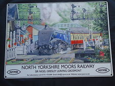 Yorkshire Moors Railway Picture Plaque Large Metal Sign Steam Train - Film Prop