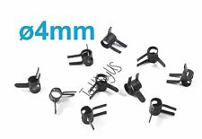 10pcs 4mm Metal Fuel Line Tube Clips Clamps, Black,US TH005-02301
