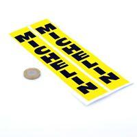 Michelin Stickers Vertical Yellow & Black Classic Race Bike Fork Vinyl 200mm x2