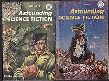 ASTOUNDING SCIENCE FICTION MAGAZINE 1957 COMPLETE x12 ISSUES pulp  RARE SET  fj