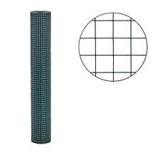 Volierendraht grün 1m x 10m 25x25 mm Drahtgitter Maschendraht Schweißgitter Zaun