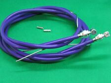 NOS VINTAGE OLD SCHOOL PURPLE BMX BRAKE CABLE SET TO FIT RALEIGH MINI BURNER