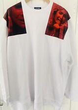 Raf Simons White Oversize Patches Sweatshirt