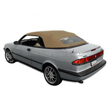 Saab 900S/SE Convertible Top 95-96 in Tan Stayfast Cloth, Glass Window