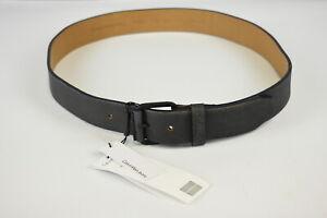 CALVIN KLEIN JEANS Men's 100 CM Wide Aged Look Navy Leather Belt 34851_GS