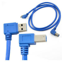1M USB 3.0 A male 90degree Right angle to USB3.0 B male Right angle Pinter Cable