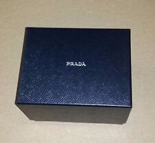 NEW PRADA SMALL SQUARE WATCH JEWELRY STORAGE GIFT BOX TISSUE PAPER BLACK SILVER