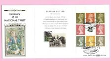 1995 BENHAM BLCS104c  FDC - NATIONAL TRUST Potter Booklet Pane - Shs WINDERMERE