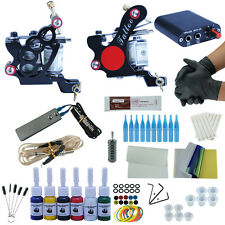 Tattoo Kit 2 Tattoo Machine Guns Set 6 Colors Ink Power Supply Needle