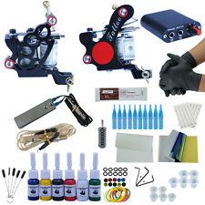 Tattoo Kit 2 Tattoo Machine Guns Set 6 Colors Ink Power Supply Needle