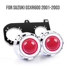 KT LED Angel Eye HID Projector Lens for Suzuki GSXR600 2001 2003 Headlight Red
