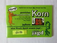 Orig. DDR Jagdhumor gestrichen Korn Erich Hobusch Militärverlag Archivexemplar