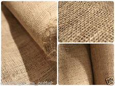"5M Natural hessian jute sack fabric SOLD / METRE 54"" WIDE upholstery - garden"