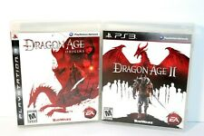 Playstation 3 Dragon Age Origins and II Black Label Complete and Tested