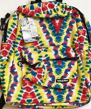 YAK PAK Classic Student Backpack Multi-Colored Tie-Dye Design 6350