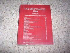 1989 Lincoln Mark VII 7 Shop Service Repair Manual Book Bill Blass LSC 5.0L V8