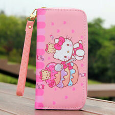 "Carino Orso Hello Kitty portafoglio con cinturino zip portamonete 6"" Telefono Borsa Ragazza Regalo"