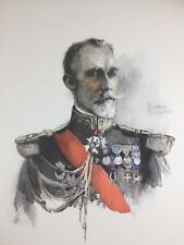 Vice Amiral Le Bris 1920 Marine Charles Fouqueray Lithographie ancienne signée