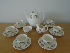 RIDGWAY Potteries Gaywood Retro 1950/60s 15 piece Coffee/Espesso Set