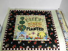 Mary Engelbreit Bloom Where You're Planted Girl w/ Water Can Cotton Fabric