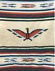 Mexican Blanket Vintage Style Thunderbird Eagle Tan Khaki Brown XL Yoga Saltillo