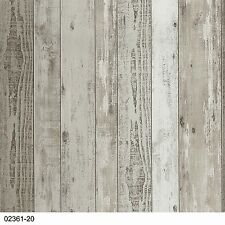 P+S Vliestapete Einfach Schöner 02361-20 Vintage Holz 3D Braun Beige Creme Weiß