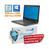 """COMPUTER NOTEBOOK DELL LATITUDE E7270 I5 6200U 12,5"""" HDMI SSD WIN 10 PRO PER P.I"""