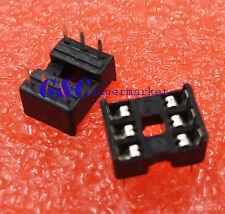 20Pcs 6-Pin 6pins Dil Dip Ic Socket Pcb Mount Connector New