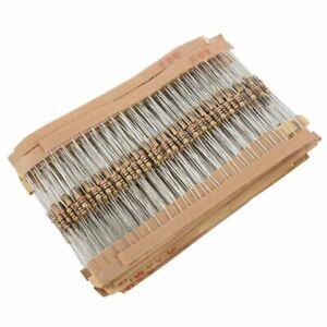 860pcs 1 ohm-1M ohm 1/4W Carbon Film Resistors Assortment Kit 43 Values W8P4