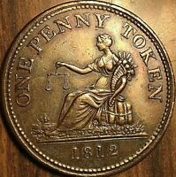 1812 LOWER CANADA TIFFIN PENNY TOKEN - Fantastic example Rarely this nice! Br959