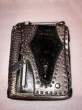 Biker bag with crocodile skin for belt or shoulder strap