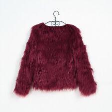 Women Luxury Warm Ladies Faux Fox Fur Jacket Cardigan Coat Tops Outwear Parka