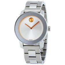 New Movado Bold Stainless Steel 36mm Unisex Watch 3600084