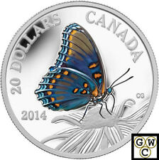 2014 'Red-Spotted Purple Butterfly Prf Color $20 Silver .9999  Fine(NT) (13976)