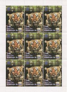 CHINESE HOROSCOPE YEAR OF THE TIGER WILD ANIMAL NIGER 1998 MNH STAMP SHEETLET