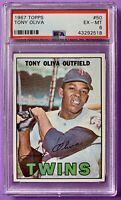 1967 Topps #50 Tony Oliva PSA 6 EX-MT MINT Minnesota Twins Tough Card! Sharp!