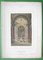 ARCHITECTURE PRINT COLOR : Italy Interior Chapel of S. Domenico at Bologna