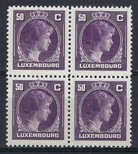 Luxembourg 1944 Sc# 222 Charlotte 50c block 4 MNH