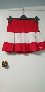 Gilly Hicks Ladies Pleated Skirt, Red / White, S