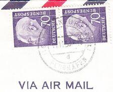 Germany 1958 Sent From APO 57 Frankfurt Flughafen CDS Vertical Pair 70p Cover 6x