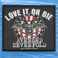 AVENGED SEVENFOLD / LOVE IT OR DIE 2011 - WOVEN  PATCH - free shipping
