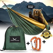 Premium Hängematte XXL Outdoor Mehrpersonen Ultra-Leicht Fallschirmseide Camping